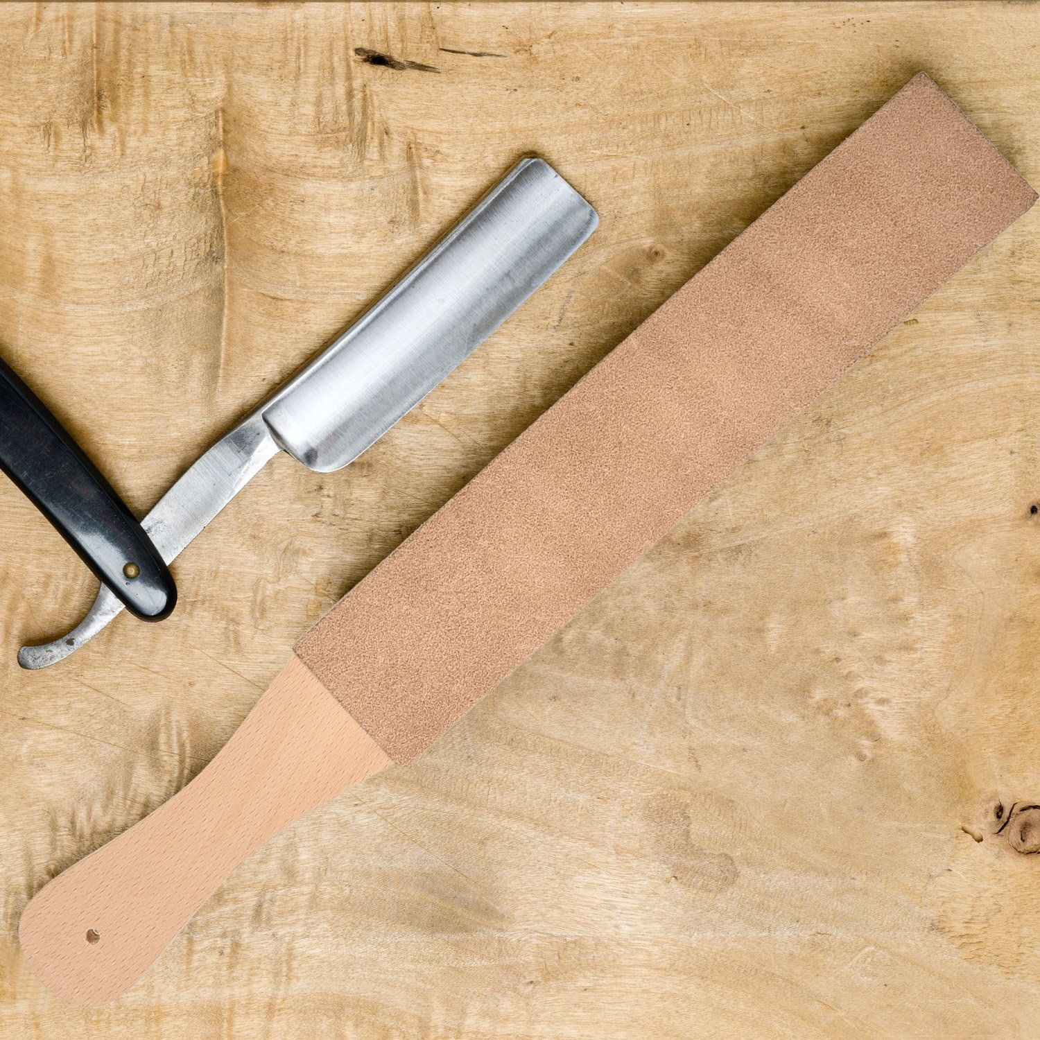Hestya 3 Pieces Leather Strop with Compounds Kit, 1 Piece