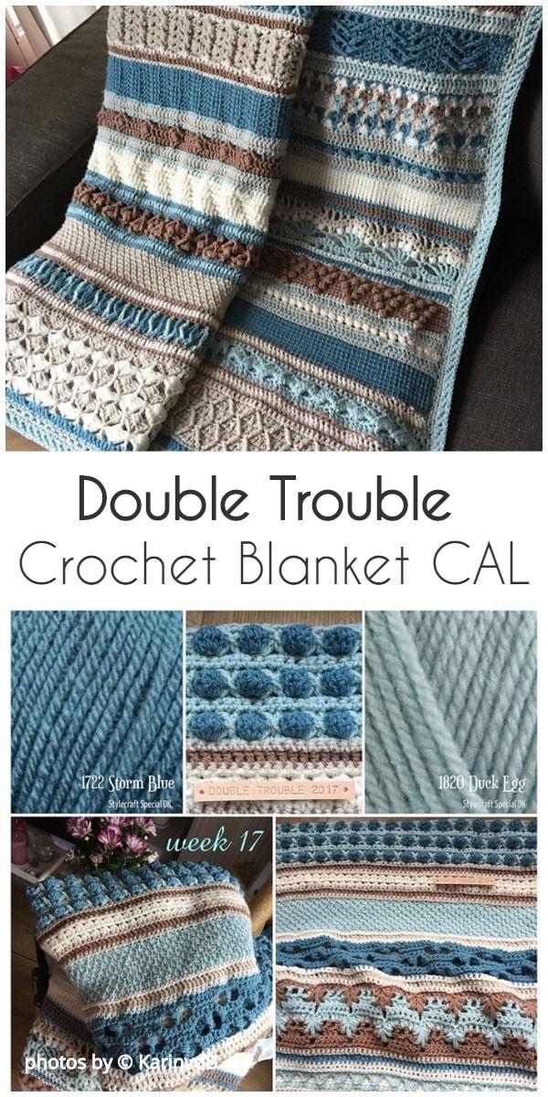 Double Trouble Crochet Blanket CAL #crochetformoney