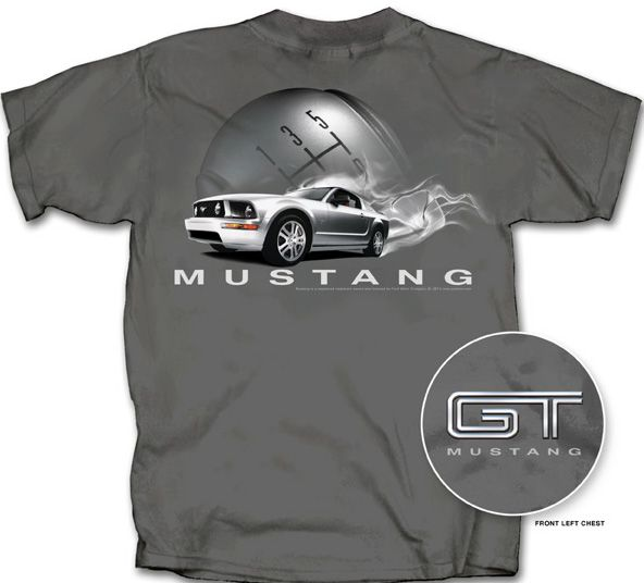 ford mustang gt t shirt smokin 39 charcoal adult tee shirt. Black Bedroom Furniture Sets. Home Design Ideas