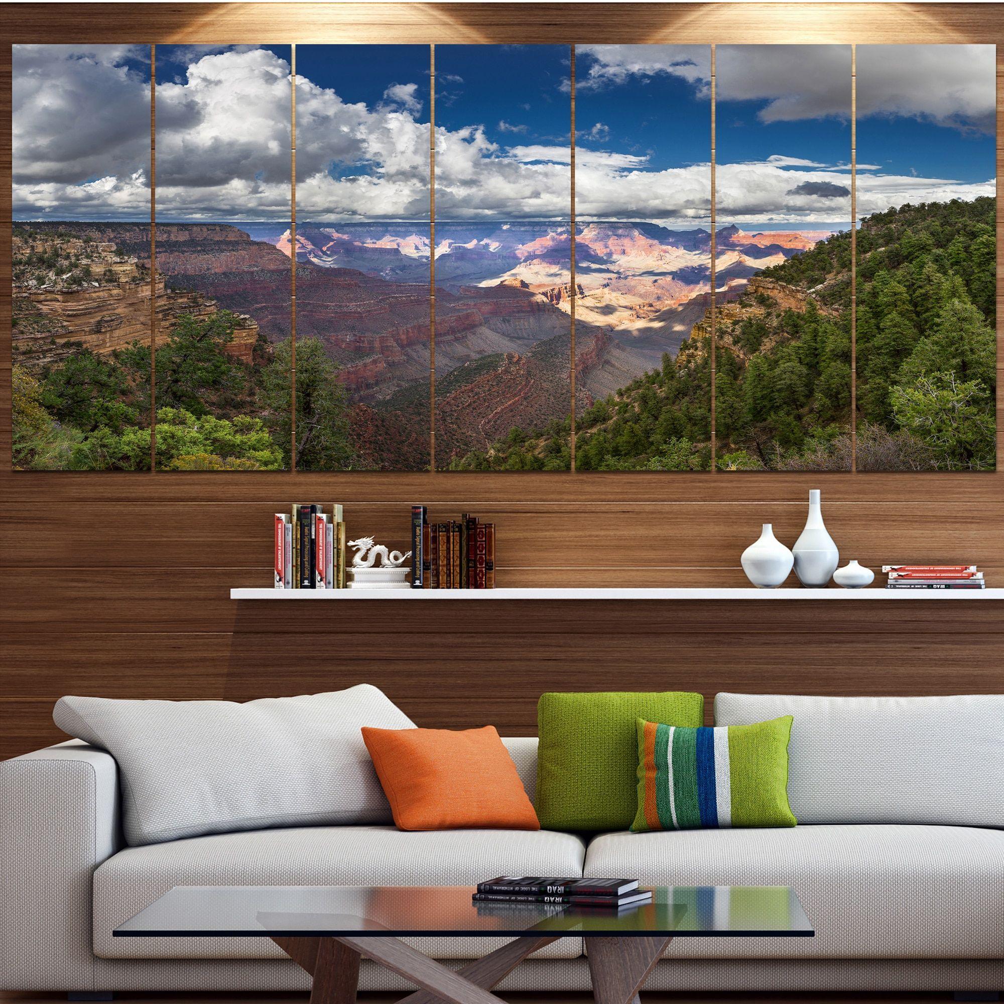 Designart Us Grand Canyon In Colorado River Modern Landscpae Wall