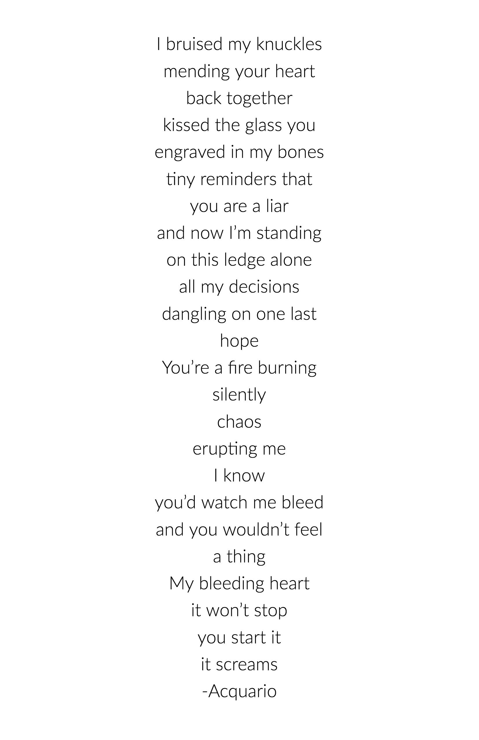 Breakup Poems 3