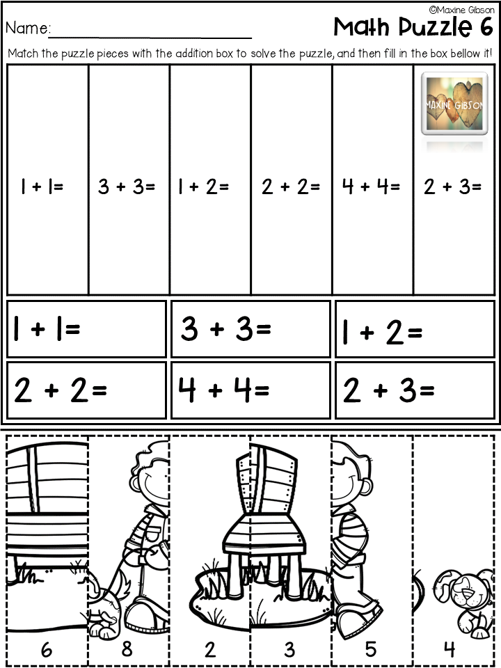 Check Out My Full Freebies More Than 200 Pages Free Sample Flash Freebies And Flash Sale At Maxine Gibson Tpt Kindergar Math Maths Puzzles Kindergarten Math