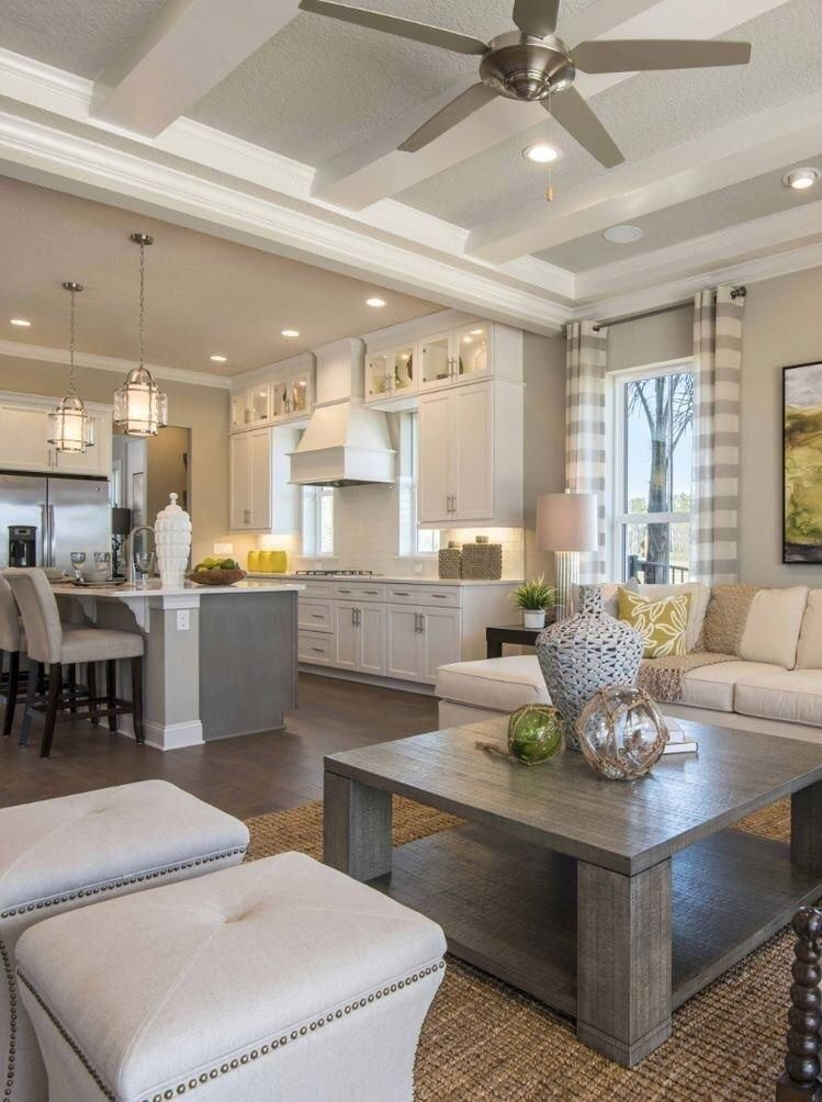 I love how the kitchen and living room are all together. I ...