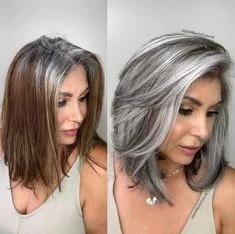 Platinum Blonde Bob Wig With Dark Roots