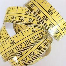 60 Yellow Self Adhesive Measuring Tape Ruler Sticker Sewing Boating Fishing Adhesive Vinyl Tape Measure Adhesive