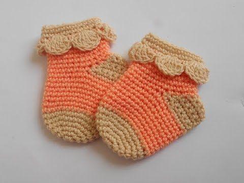 crochet-crosia! Tutorial Crochet baby socks | Crochet Baby Dress ...