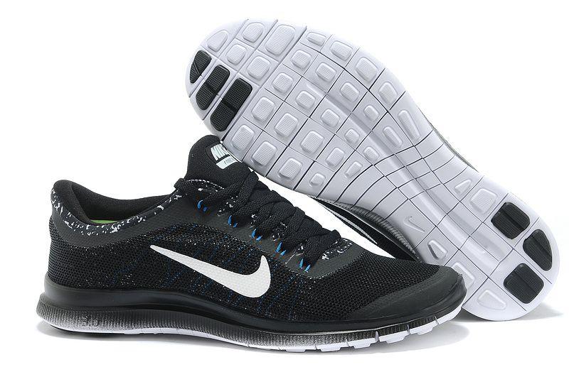 Nike Free 3.0 V6 Black White Light Blue Mens Running Shoes  0befe31804