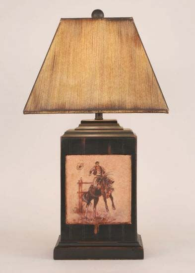 Bronco Western Lamp Western Lamps Ranch House Decor Lamp