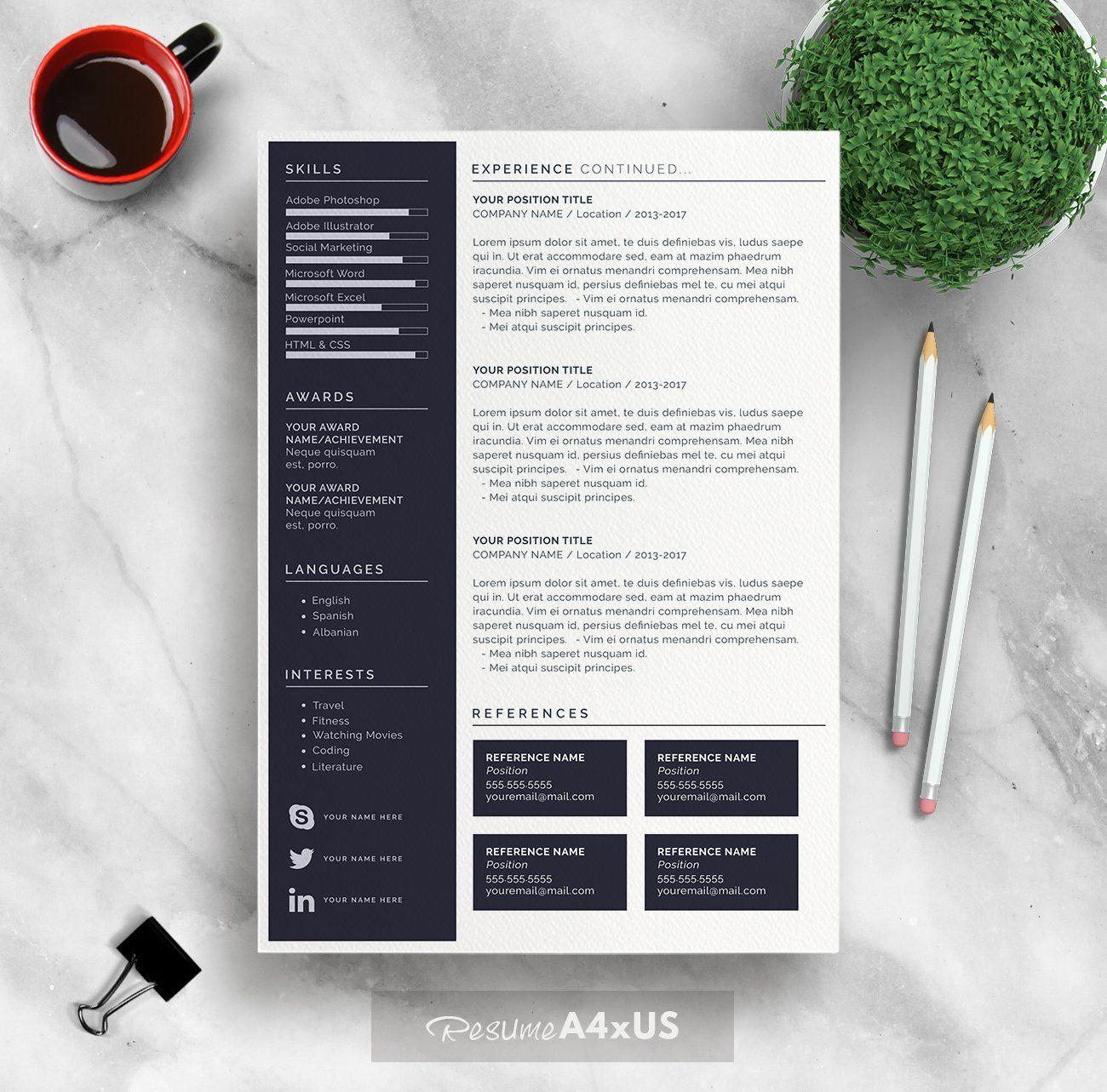 Resume/CV Modern resume template, Resume template