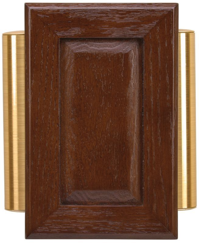 Doorbell Chimes Wired | Heath Zenith 48 Wired Raised Panel Doorbell Chime Solid Oak Cover