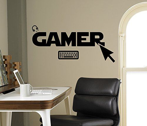 Gamer Wall Decal Gamepad Vinyl Sticker Cybersport Home Decor Ideas Interior Removable Kids Room Wall Art 4gmr -- More info could be found at the image url.