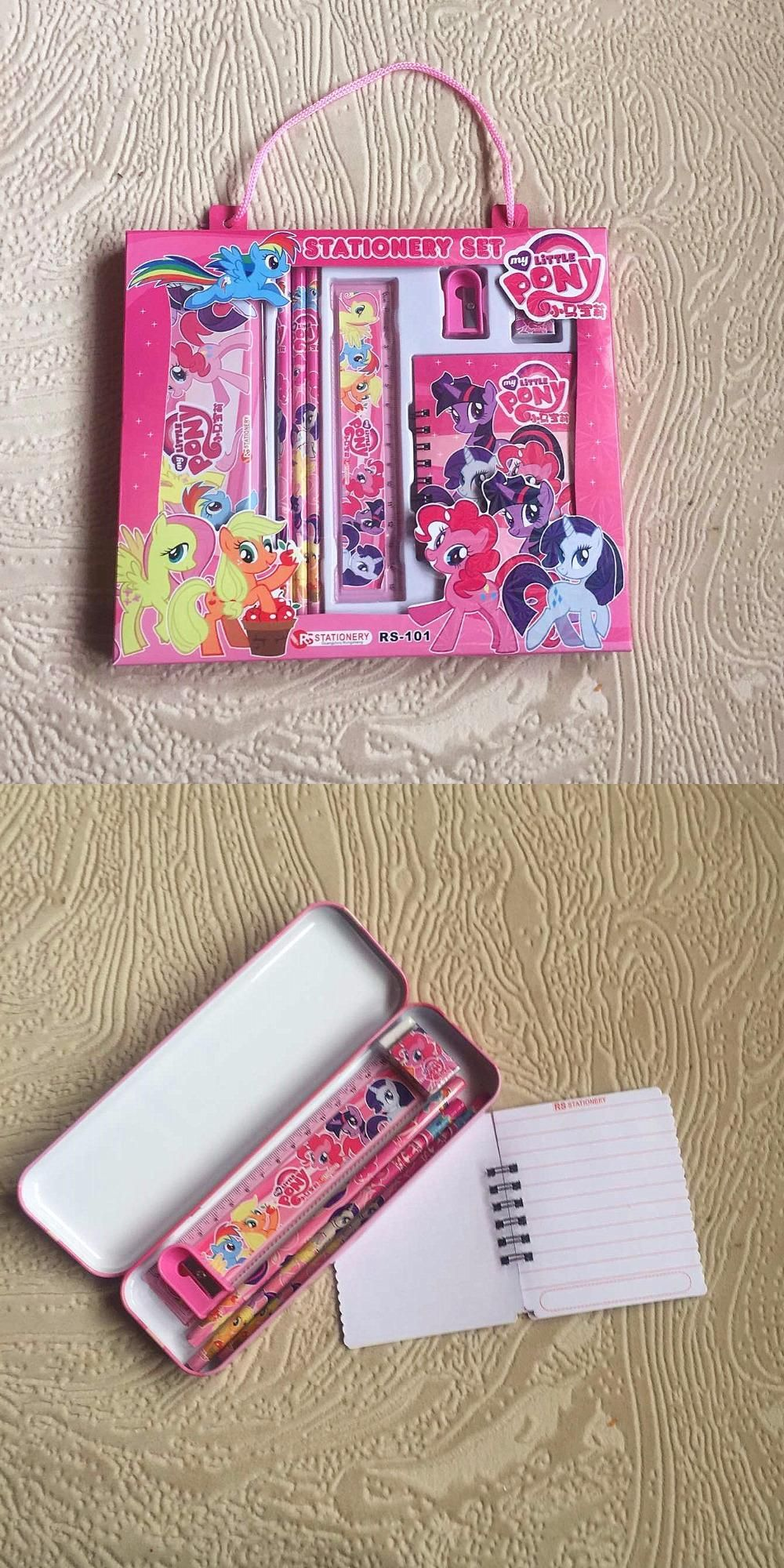 Visit To Buy Cute Cartoon My Little Pony Theme School Kids Stationery Sets Pencil Case For Children Ruler Kids Stationery Set Kids Stationery Stationery Set