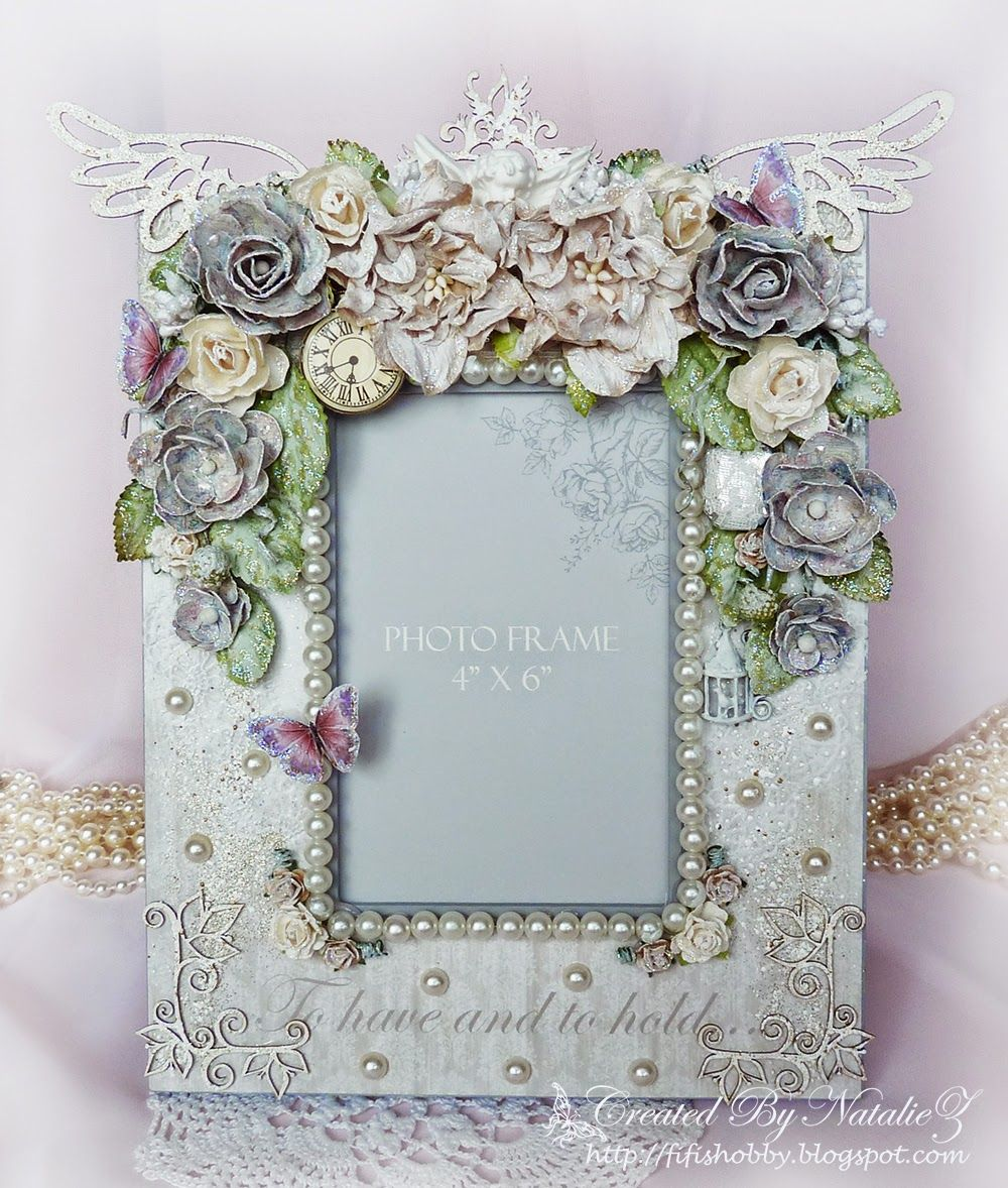 shabby chic photo frame fanciful frames pinterest. Black Bedroom Furniture Sets. Home Design Ideas