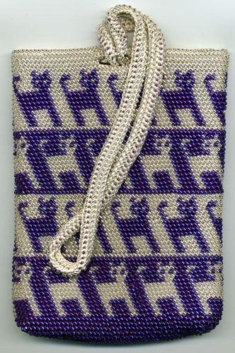 Bead Tapestry Crocheted Kit- Cat Handbag for Righties by tapestrycrochet, via Flickr