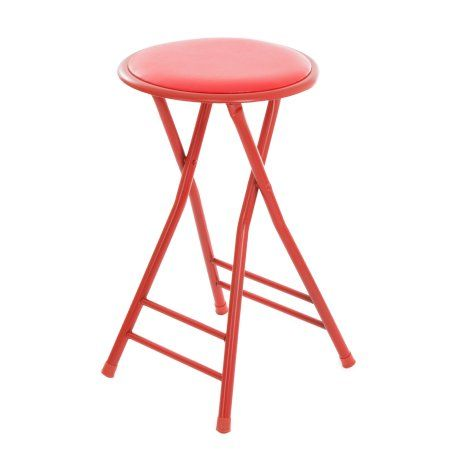 Sensational Folding Stool Heavy Duty 24 Inch Collapsible Padded Round Camellatalisay Diy Chair Ideas Camellatalisaycom