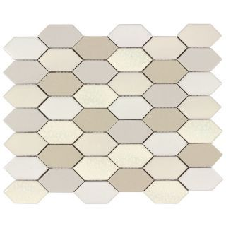 Allen Roth Blended Pickets Honeycomb Mosaic Porcelain