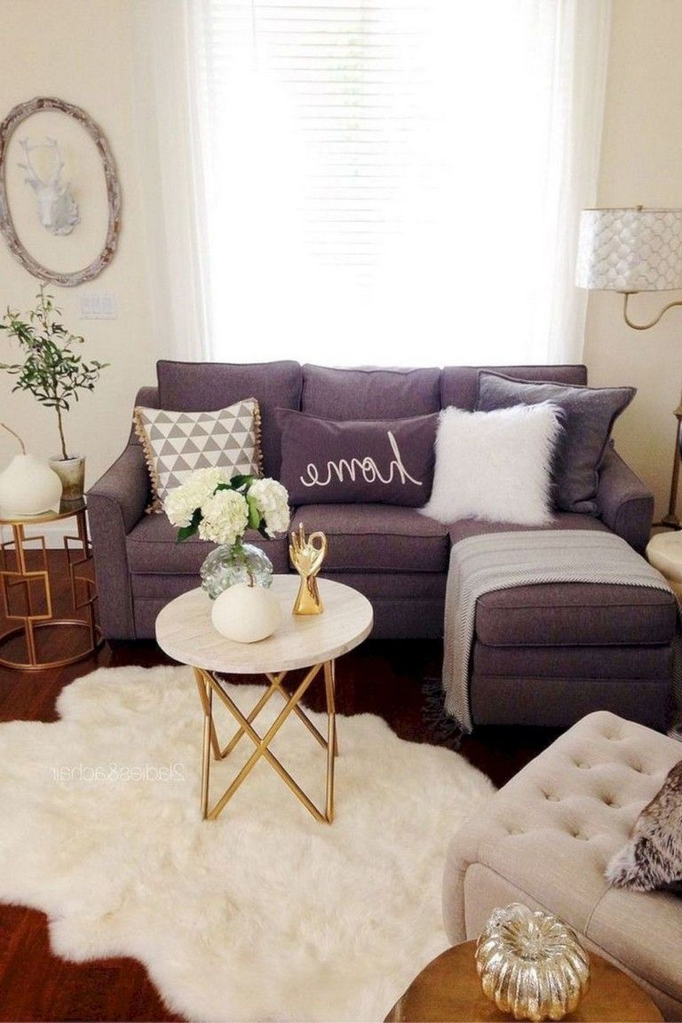 50 Modern Chic Living Room Decorating Ideas With Grey Color Tiny Apartment Decorating Small Modern Living Room Small Living Room Decor