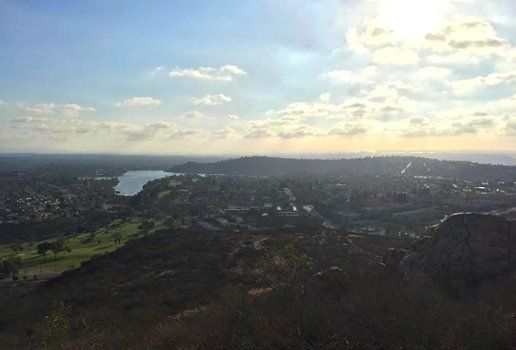 Cowles Mountain is a 3-mile round-trip hike that's well worth the trek for the view! Pro tip: Time it so you're at the top during sunset. #SanDiego