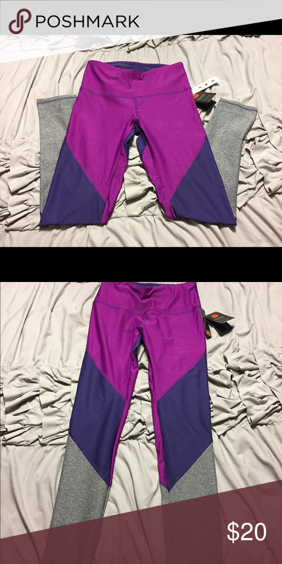 RBX workout pants RBX purple/grey workouts pants. Size M.  New with tags !! Pants Track Pants & Joggers