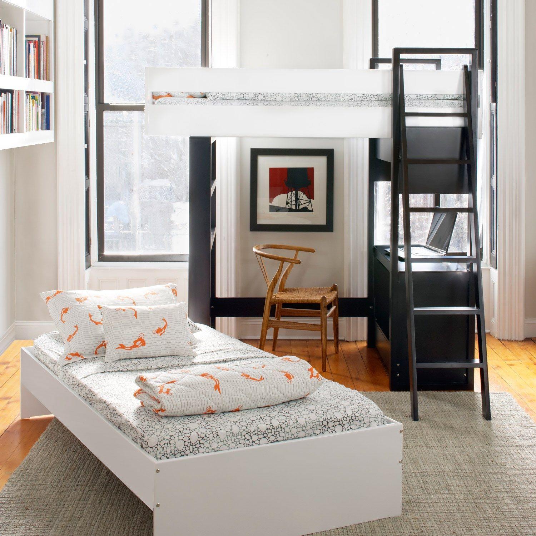 Kids 39 furniture argington uffizi ebony white bunk bed - Cool beds for sale ...