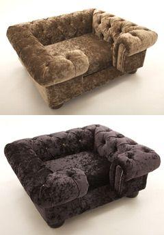 Luxury Dog Bed Crushed Velvet