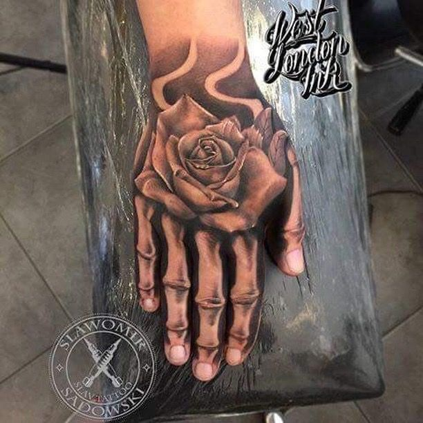 Pin By Austin Bo On Ideas Hand Tattoos Hand Tattoos Pictures Bone Hand Tattoo