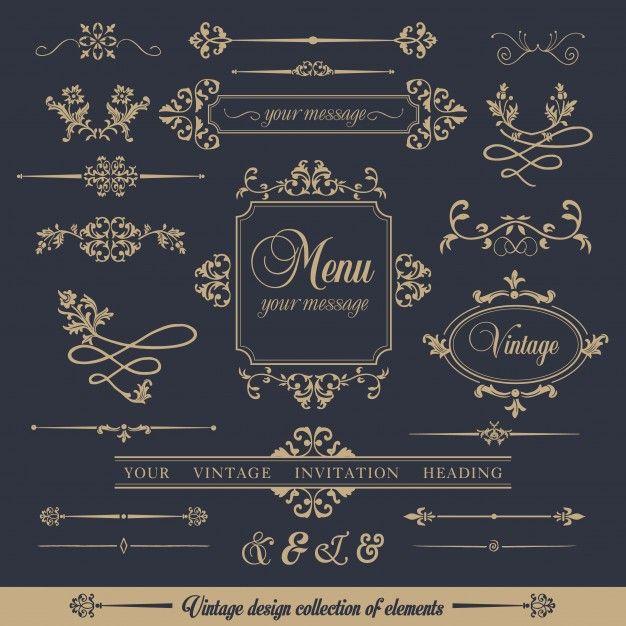 Descarga gratis vectores de Colección de marcos de estilo ornamental ...