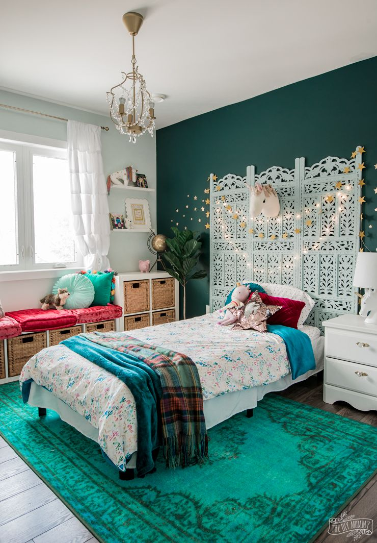 Rich Magical Boho Kids Bedroom Makeover The Diy Mommy Inspiration