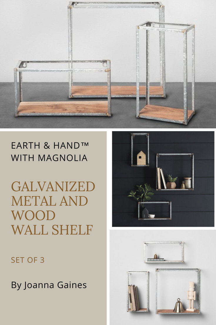 Hearth Hand With Magnolia Galvanized Metal And Wood Wall Shelf Set Of 3 By Joanna Gaines Joannagaines Wallshelf Ad Rusticdecor