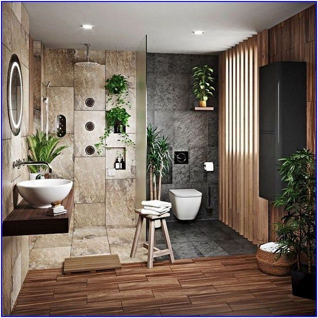 22 Black Bathroom Design For Harmony Of Your Family Dream Home Renovations Reska In 2020 Bathroom Design Black Home Natural Bathroom