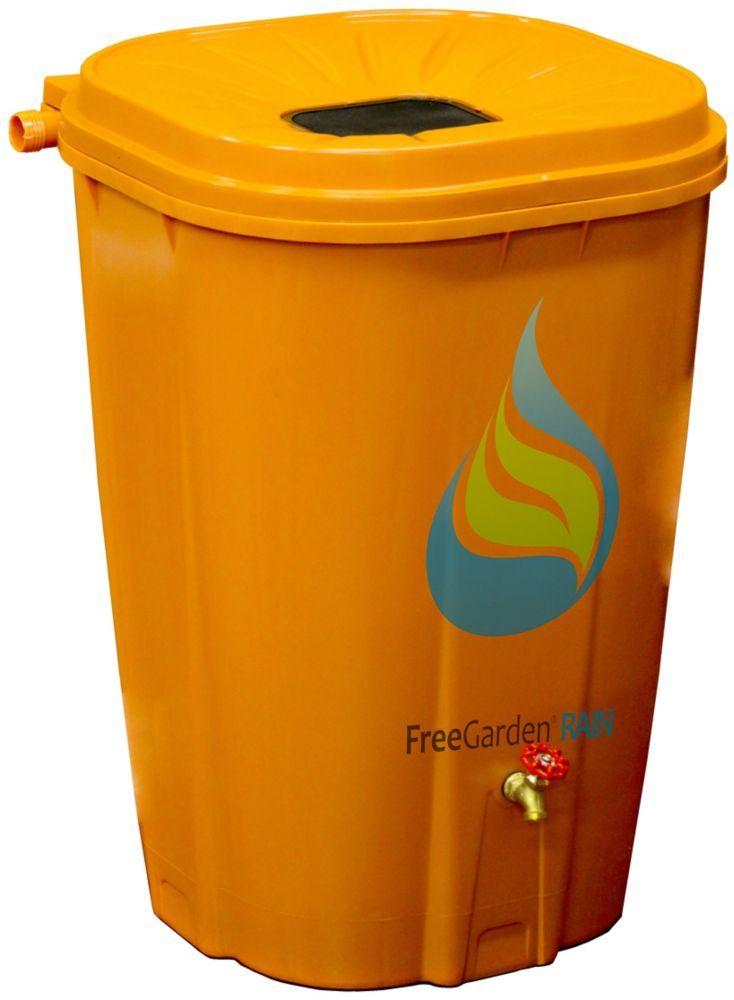 55 Gal Terra Cotta Rain Barrel With Brass Spigot And Rain Barrel Kit Rain Barrel Kit Rain Barrel Raised Garden Beds