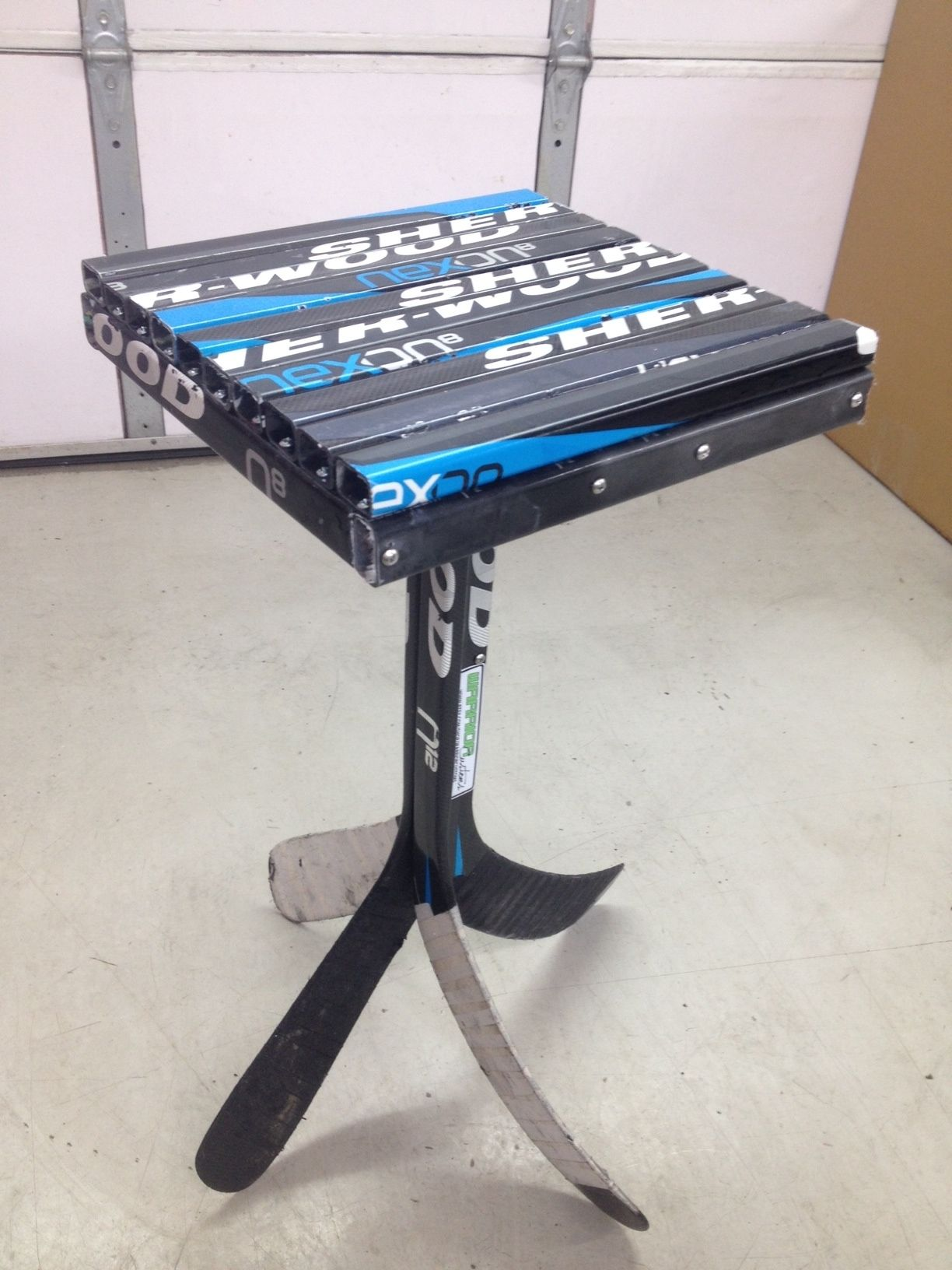 Nice Full View Of 12x12 End Table. Hockey CraftsHockey SticksHockey StuffBuilding  ...