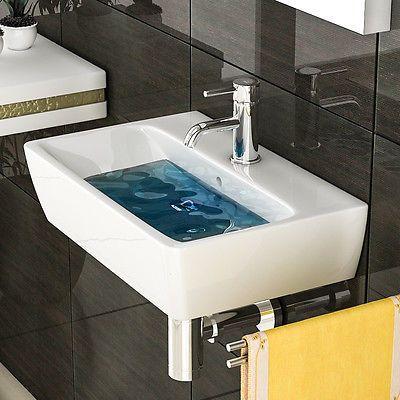 Weiss Keramik Eckig Handwaschbecken Waschtisch Waschbecken