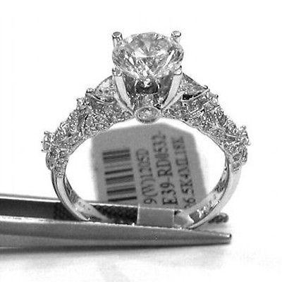 1.81CTW ROUND CUT DIAMOND ENGAGEMENT RING ANTIQUE ART DECO STYLE R32