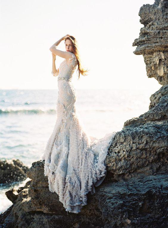 35 Trendy And Blue Wedding Gowns Weddingomania