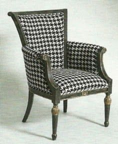 I Want A Hounds Tooth Chair Black And White Decor Home