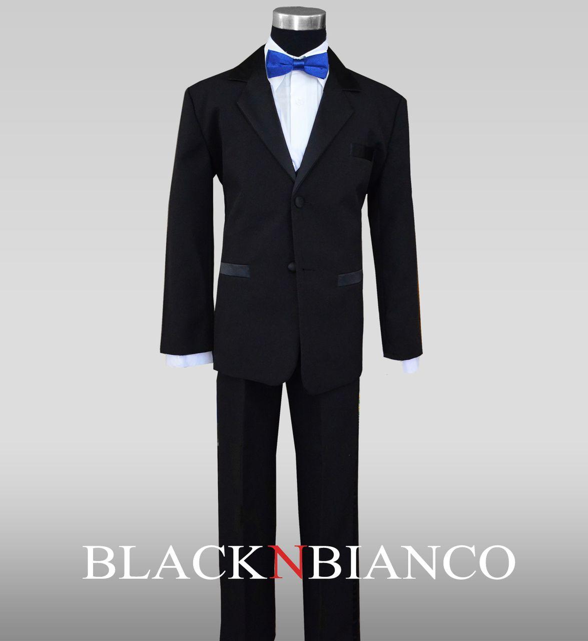 Boys Tuxedo with Royal Blue Slim Bow Tie   Pinterest ...