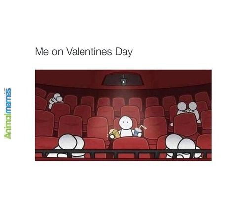 Funny Memes Alone In Movie Theater On Valentine S Day Funny Memes Me On Valentines Day Memes