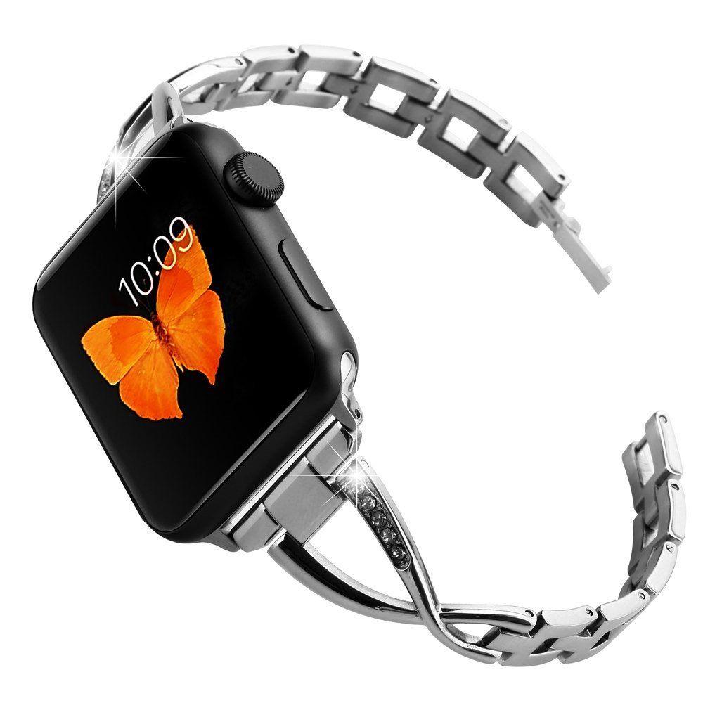 Amazon Com Huishang Apple Watch Jewelry Bangle Band Metal Stainless Steel Adjustable B 38mm Apple Watch Band Apple Watch Bracelet Band Apple Watch Bracelets
