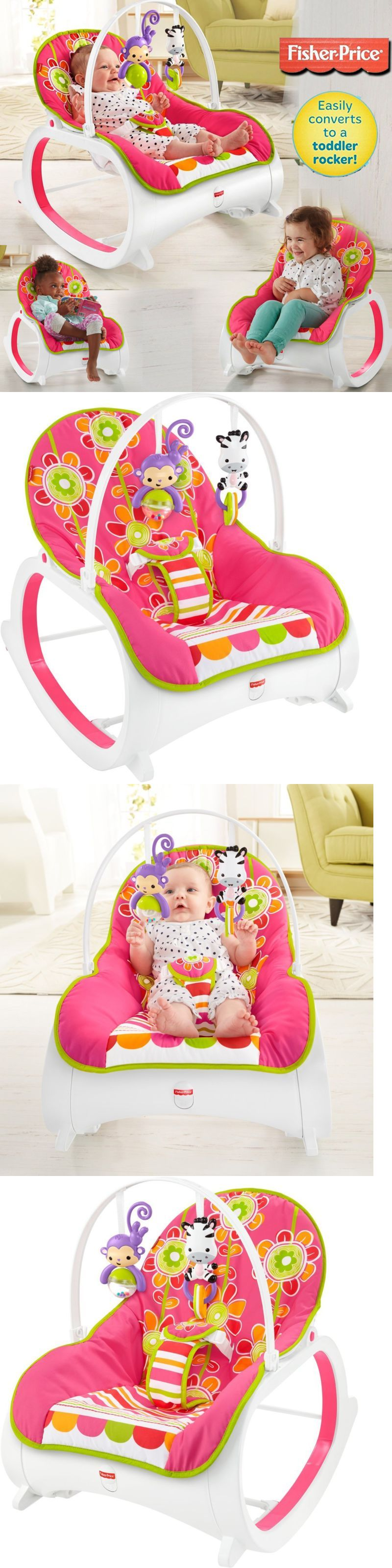 Pink Infant To Toddler Rocker Bouncer Seat Baby Chair Sleeper Swing Fisher Price Bouncers And Vibrating Chairs 117034 Toy Portable Buy It Now Only 4855 On Ebay