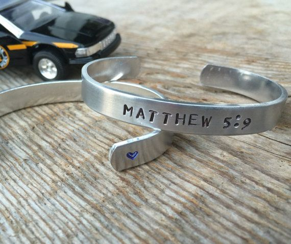 Hey, I found this really awesome Etsy listing at https://www.etsy.com/listing/254907467/matthew-59-bracelet-blessed-are-the