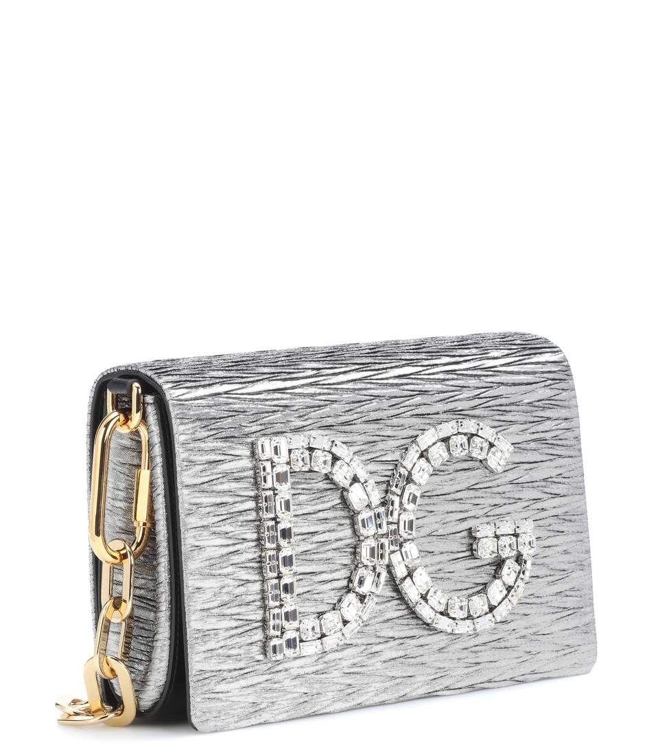 DG Girls clutch bag - Metallic Dolce & Gabbana jNQsBza1ZB