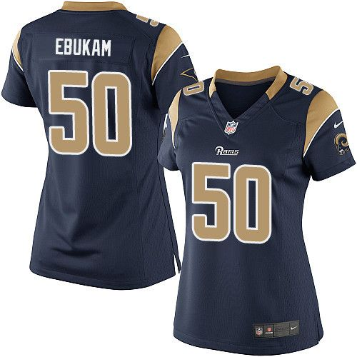 Women s Nike Los Angeles Rams  50 Samson Ebukam Limited Navy Blue Team Color  NFL Jersey d4e359343