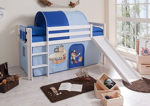 Childrens Bunk Bed Cabin Bed Tom With Slide Blue New Ebay Childrens Bunk Beds Bed Bean Bag Chair Kids