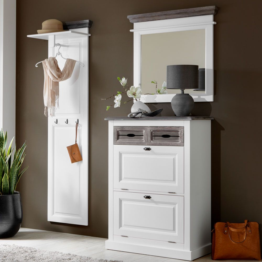 garderobe wei lackiert garderobe set einrichtung in 2019 garderobe garderobe weiss und. Black Bedroom Furniture Sets. Home Design Ideas