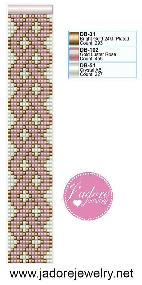 Miyuki delica weefarmband braid loom bead pattern