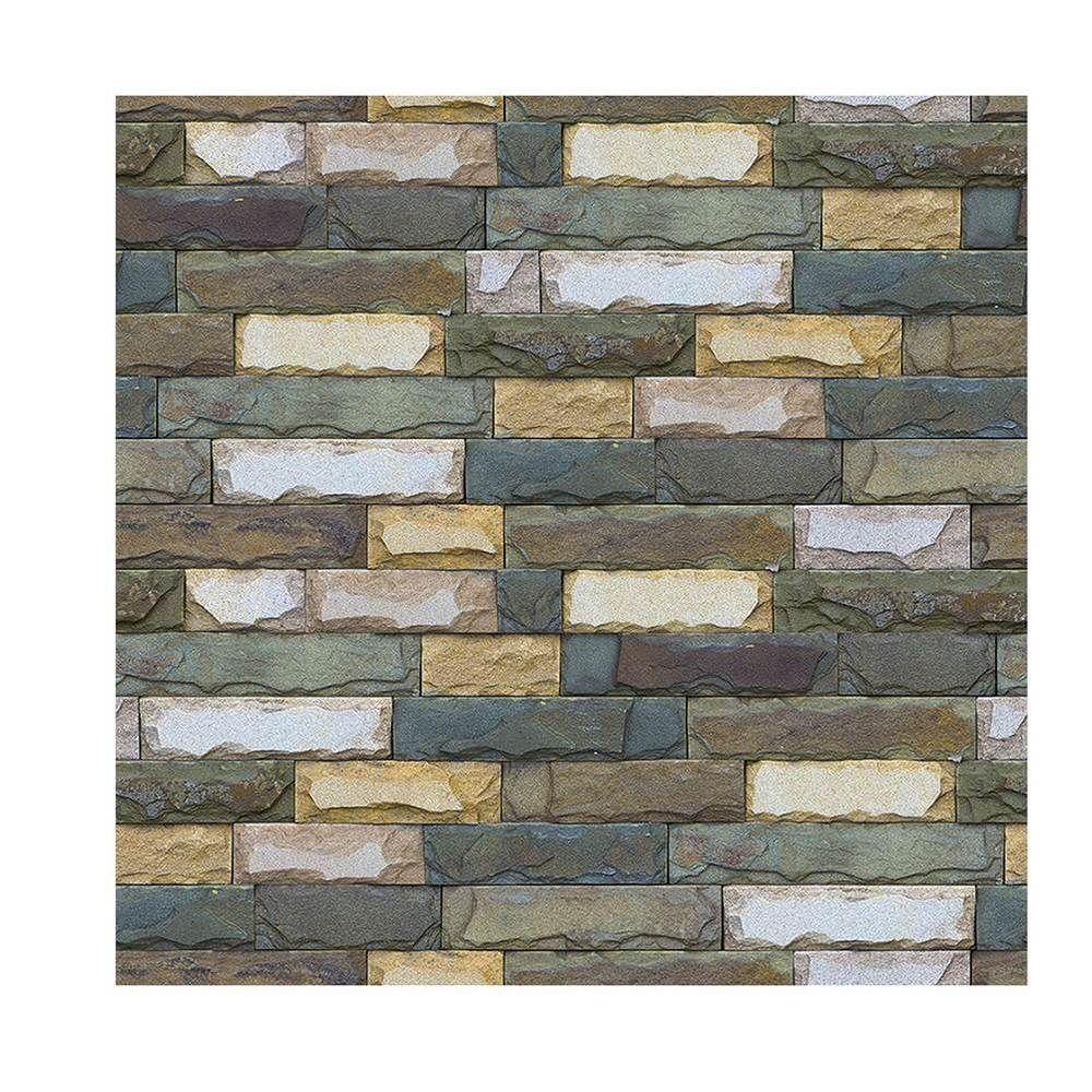 3D Stone Wallpaper Peel and Stick Brick Backdrop Wall ...