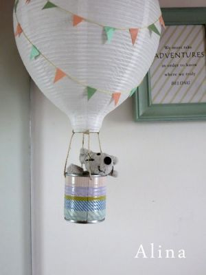 Diy lampshade pic diy pinterest diy lampshade hot air hot air balloon lamps for the kids a really cute addition to a kids room aloadofball Images