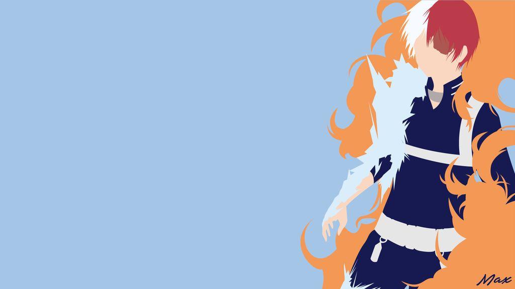 Todoroki Shouto My Hero Academia Minimalist By Max028 Hero Wallpaper Hero My Hero