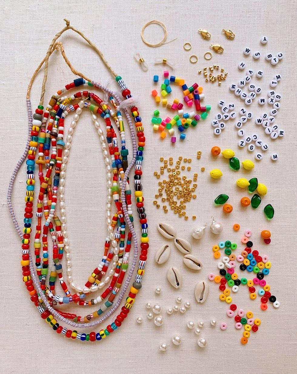 DIY Beaded Summer Necklaces - Honestly WTF